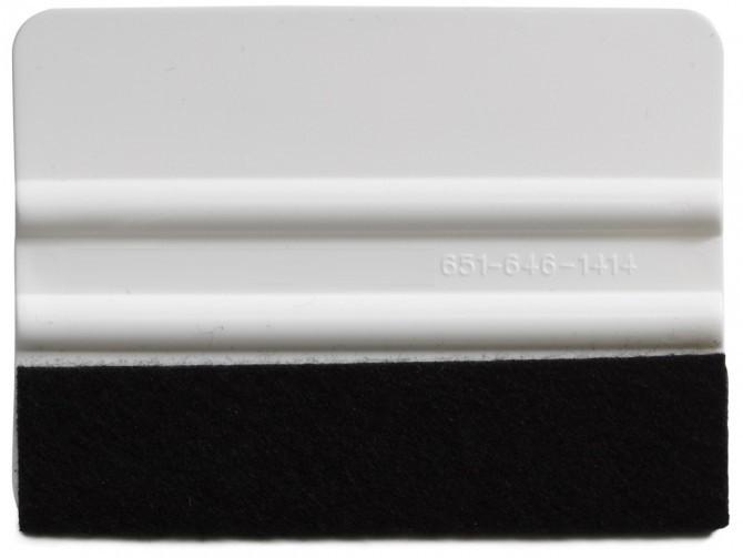 4 Inch Standard Weight Felt Edge Squeegee - White