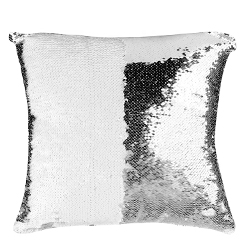 16x16 Sequin Pillow Cover- White