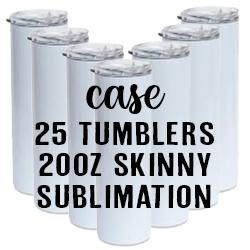 HOTTEEZ Case of 25 - Sublimation - Skinny - 20oz