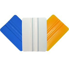 """3 Pack of 4"""" Squeegees - Blue, White, Yellow"""