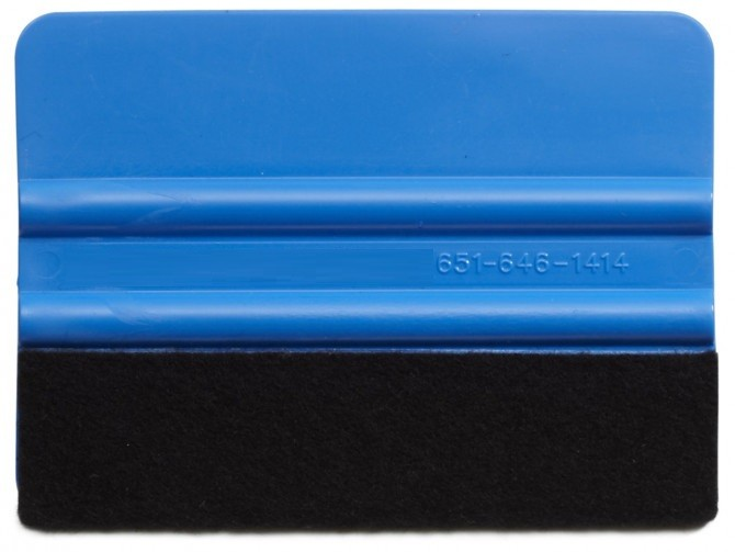 4 Inch Standard Weight Felt Edge Squeegee - Blue
