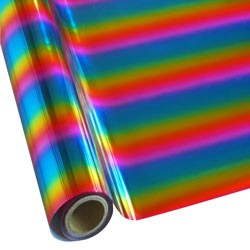 """25 Foot Roll of 12"""" StarCraft Electra Foil - Rainbow 1"""