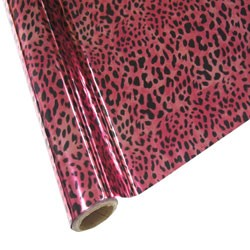 "25 Foot Roll of 12"" StarCraft Electra Foil - Pink Leopard"