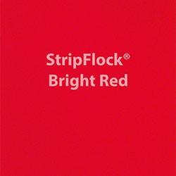 "Siser StripFlock - Bright Red - 15""x12"" Sheet"