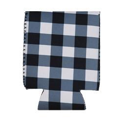 Can Cooler - Standard - Black & White Plaid