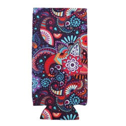Can Cooler - Tall -Purple Paisley