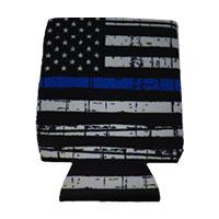 Can Cooler - Standard - Blue Line Flag