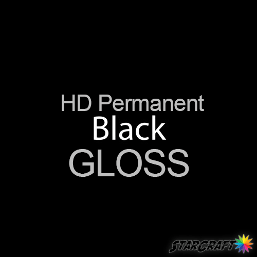 "StarCraft HD Permanent Adhesive Vinyl - GLOSS - 12"" x 5 Foot - Black"