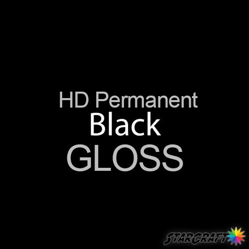 "StarCraft HD Permanent Adhesive Vinyl - GLOSS - 12"" x 12"" Sheets - Black"
