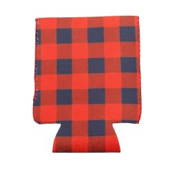 Can Cooler - Standard - Red & Black Plaid