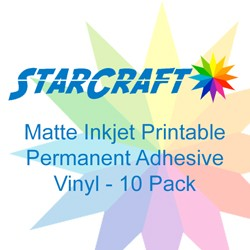 photograph regarding Oracal Inkjet Printable Vinyl known as StarCraft Inkjet Printable for Matte Long-lasting Adhesive Vinyl