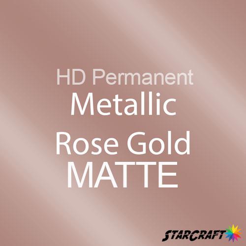 "StarCraft HD Permanent Adhesive Vinyl - MATTE - 12"" x 5 Foot - Metallic Rose Gold"