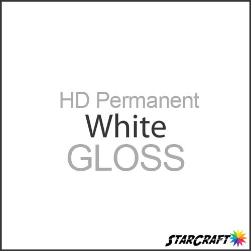 "StarCraft HD Permanent Adhesive Vinyl - GLOSS - 12"" x 5 Foot - White"