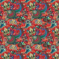 Printed HTV - #033 Red Paisley