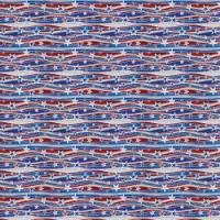 Adhesive  #034 Patriotic Waves
