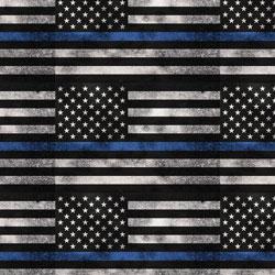 Printed HTV - #070 Blue Line Flag