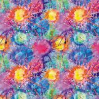 "Adhesive  #114 Rainbow Splatter 14"" x 5 Foot Roll"