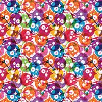 Adhesive  #144 Rainbow Skulls