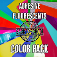 Adhesive Fluorescents Color Pack