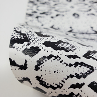 """Faux Leather 12"""" x 12"""" Sheets - 003 Black and White Snake Skin"""