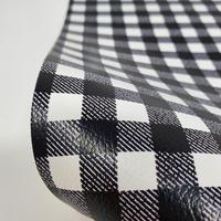 """Faux Leather 12"""" x 12"""" Sheets - 016 Black Plaid"""