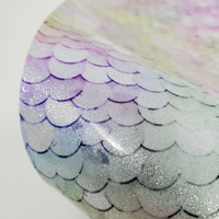 """Glitter Faux Leather 12"""" x 12"""" Sheets - 011 Pastel Sequins"""