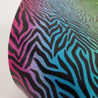 "Glitter Faux Leather 12"" x 12"" Sheets - 012 Rainbow Zebra"