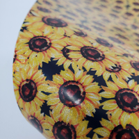 """Glitter Faux Leather 12"""" x 12"""" Sheets - 015 Watercolor Sunflower"""