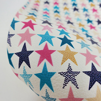 """Faux Leather 12"""" x 12"""" Sheets - 022 Retro Stars"""