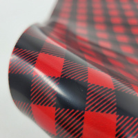 """Glitter Faux Leather 12"""" x 12"""" Sheets - 018 Red Plaid"""
