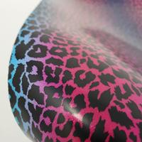 "Glitter Faux Leather 12"" x 12"" Sheets - 019 Rainbow Leopard"