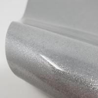 "Glitter Faux Leather 12"" x 12"" Sheets - Silver Glitter"