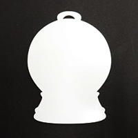 Acrylic Blank- Snow Globe