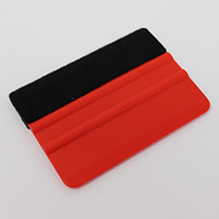 4 Inch Standard Weight Felt Edge Squeegee - Red