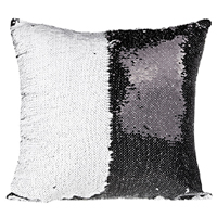 16x16 Sequin Pillow Cover- Black