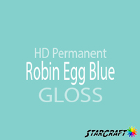 "StarCraft HD Permanent Adhesive Vinyl - GLOSS - 12"" x 12"" Sheets - Robin Egg Blue"