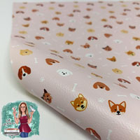 """Faux Leather 12"""" x 12"""" Sheets - 025 Puppers"""