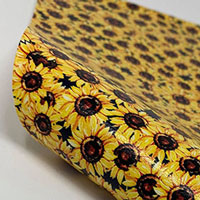 """Faux Leather 12"""" x 12"""" Sheets - 023 Watercolor Sunflowers"""