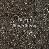 """Siser GLITTER Black Silver - 12""""x12"""" Sheet"""