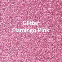 "Siser Glitter Flamingo Pink - 20""x12"" Sheet"