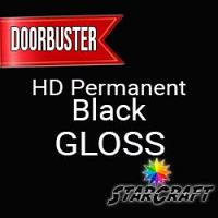 "StarCraft HD Permanent Adhesive Vinyl - GLOSS - 12"" x 12"" Sheets - Black - DOORBUSTER"