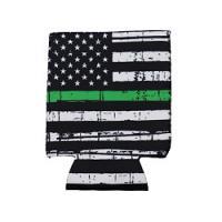 Can Cooler - Standard - Green Line Flag