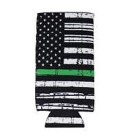 Can Cooler - Tall -Green Line Flag