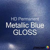 "StarCraft HD Permanent Adhesive Vinyl - GLOSS - 12"" x 12"" Sheets - Metallic Blue"