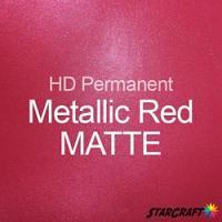 "StarCraft HD Permanent Adhesive Vinyl - MATTE - 12"" x 12"" Sheets - Metallic Red"