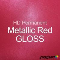 "StarCraft HD Permanent Adhesive Vinyl - GLOSS - 12"" x 12"" Sheets - Metallic Red"