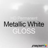 "StarCraft HD Permanent Adhesive Vinyl - GLOSS - 12"" x 12"" Sheets - Metallic White"