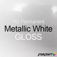 "StarCraft HD Permanent Adhesive Vinyl - GLOSS - 12"" x 5 Foot - Metallic White"