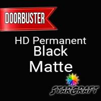 "StarCraft HD Permanent Adhesive Vinyl - MATTE - 12"" x 12"" Sheets - Black - DOORBUSTER"