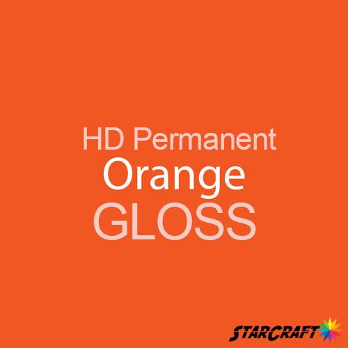 "StarCraft HD Permanent Adhesive Vinyl - GLOSS - 12"" x 5 Foot - Orange"